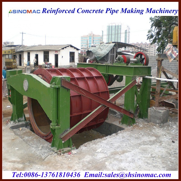 Suspending RCP Pipe Machine